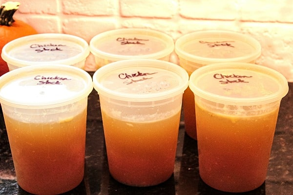 Grandma's Homemade Chicken Stock recipe is a rich, golden stock for making soups, pasta and rice come alive with savory flavor.