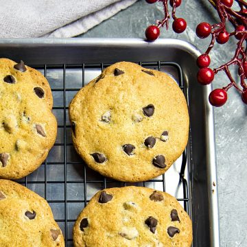 Chocolate Chip Cookies just like Grandma's - crispy and delicious made with simple wholesome ingredients and no chilling time!