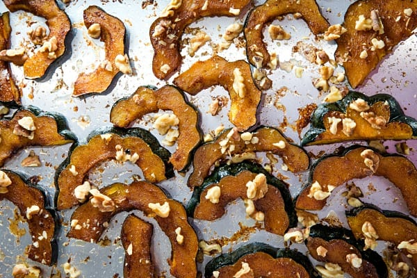 Spiced Roasted Acorn Squash on sheet pan