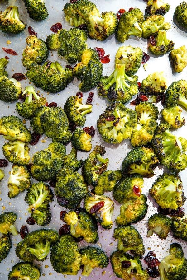 maple Mustard Broccoli on sheet pan