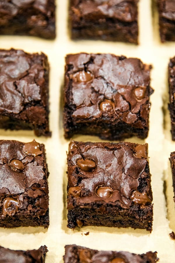 Fudge Brownies from scratch.