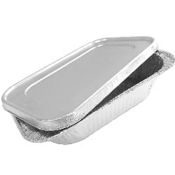 foil pan with lid for meatloaf
