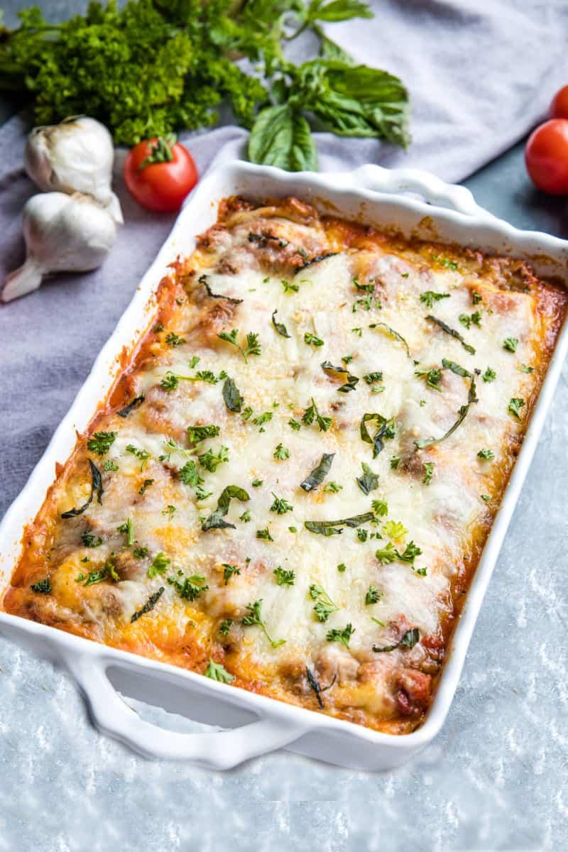 baked freezer ravioli